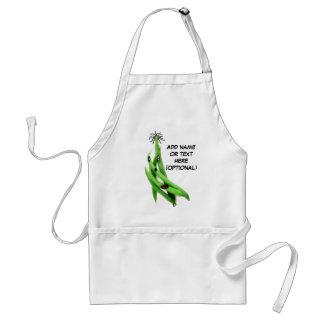 Personalized Green Bean Cartoon Standard Apron