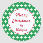 Personalized Green Christmas Stickers