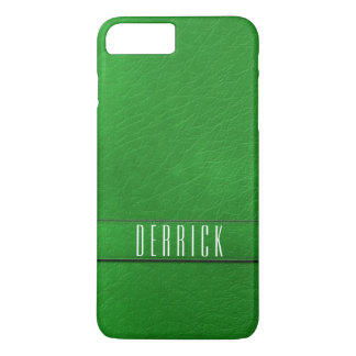 Personalized Green Faux Leather Phone Case