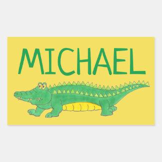 Personalized Green Gator Alligator Crocodile Croc Sticker