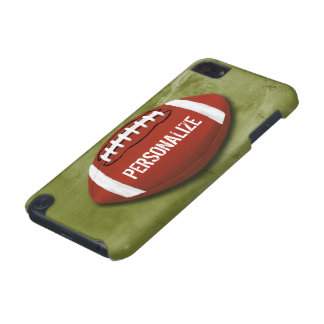 Personalized Green Grunge Football iPod Touch (5th Generation) Cover