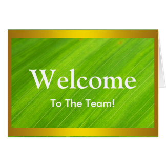 Personalized Green leaf Natural welcome Card