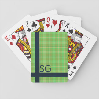 Personalized green playing cards, st patrick's day playing cards