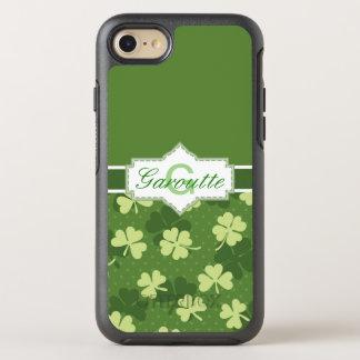 Personalized Green Shamrock St Patricks OtterBox Symmetry iPhone 8/7 Case