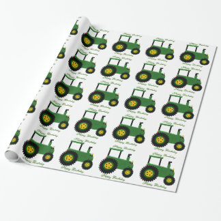 Personalized Green Tractor Birthday