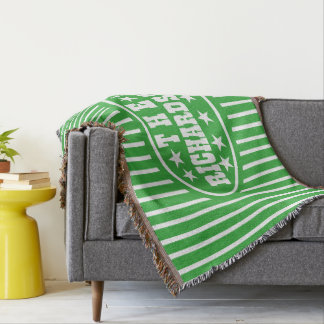 Personalized Green Vintage Carnival Throw