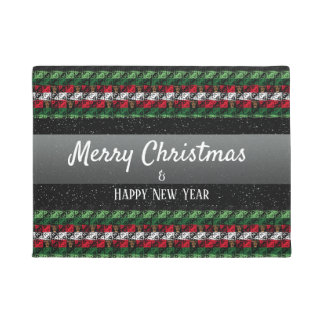 Personalized Greeting Holiday Season Welcome Mat