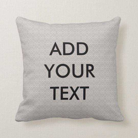 Personalized Grey Geometric Pillow