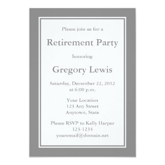 Personalized Grey Invitations or Announcements