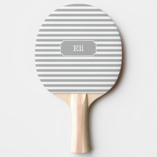 Personalized Grey Stripe Ping Pong Paddle