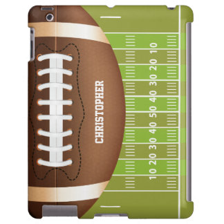 Personalized Grid Iron Football on Field