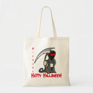 Personalized Grim Reaper Trick or Treat Tote Bag