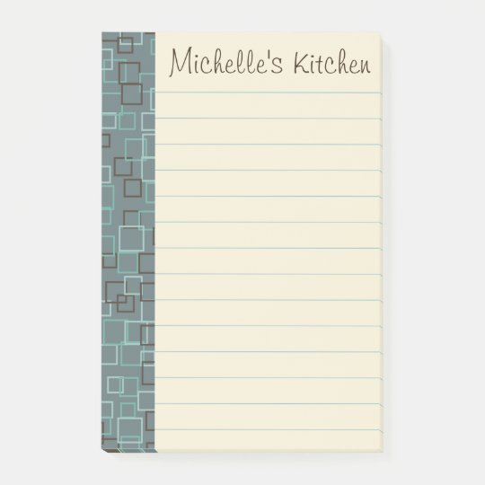 Personalized Grocery Kitchen Post It Notes Gift