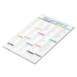Personalized Grocery List Notepad