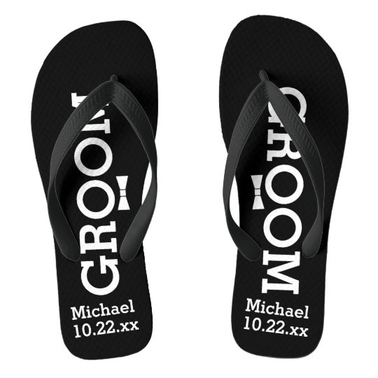 Personalized Groom Wedding - Pick Your Colour Flip Flops