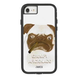 Personalized Grumpy AFICIONADO Puggy Cigar Case-Mate Tough Extreme iPhone 8/7 Case
