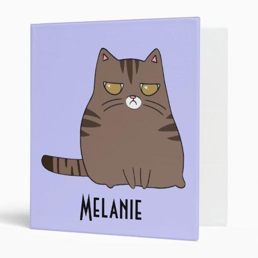 Personalized Grumpy Kitty Binder