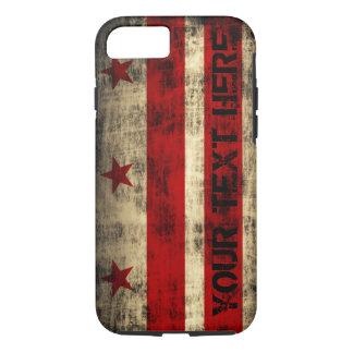 Personalized Grunge Washington DC Flag iPhone 7 Case