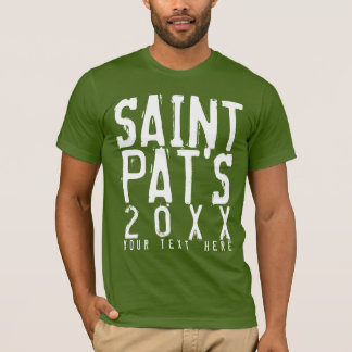 Personalized Grungy St. Patricks Day T-Shirt