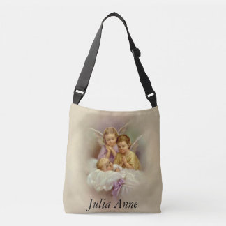 Personalized Guardian Angel Cherubs Baby Cloud Crossbody Bag