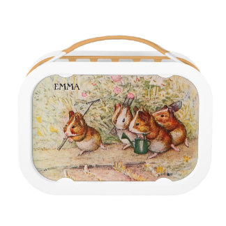 Personalized Guinea Pigs Gardening Lunch Box