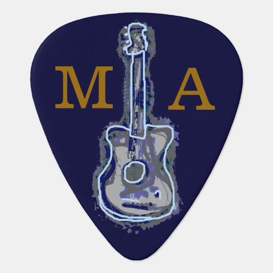 personalized guitar blues guitar pick