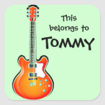 Personalized Guitar Sticker