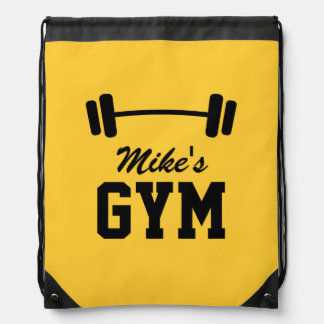 Personalized gym bag | weightlifting backpack drawstring bags