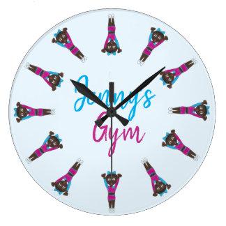 Personalized Gymnastics Acrobatics Tumbling Gym Large Clock