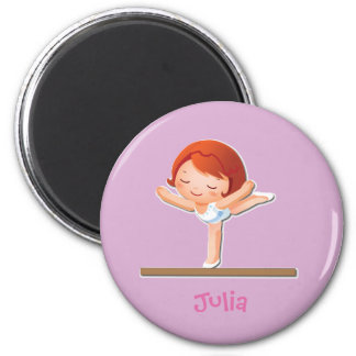 Personalized Gymnastics Gifts 2 Inch Round Magnet