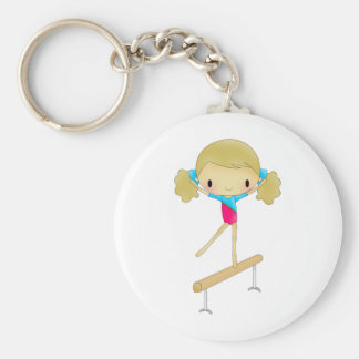 Personalized Gymnastics gifts and accessories Basic Round Button Keychain