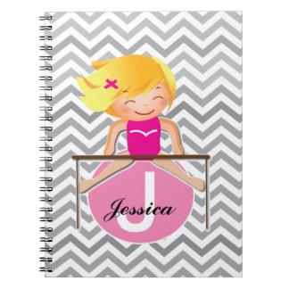 Personalized Gymnastics GIRL Notebook