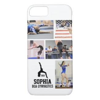 Personalized Gymnastics Photo Collage Name Year Case-Mate iPhone Case