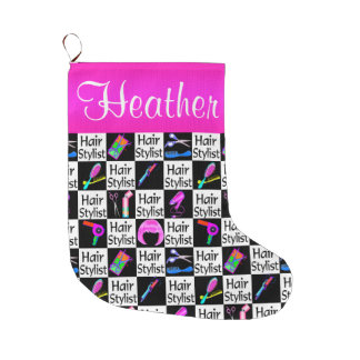 PERSONALIZED HAIR STYLIST CHRISTMAS STOCKING LARGE CHRISTMAS STOCKING