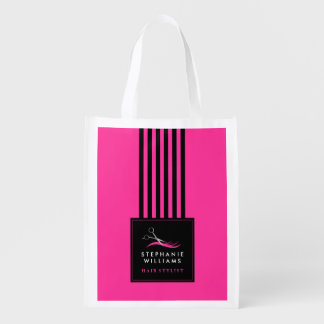 Personalized Hair Stylist Reusable Bag Grocery Bag