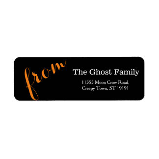 Personalized Halloween Be Scary Return Address Label