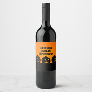 Personalized // Halloween // Boos and Booze Wine Label