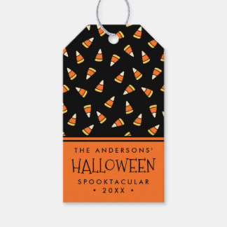 Personalized Halloween Party Candy Corn Pack Of Gift Tags