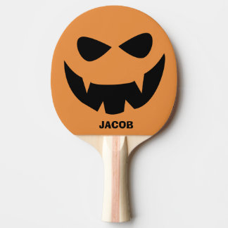 Personalized Halloween Pumpkin Ping Pong Paddle