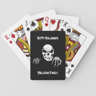 Personalized Halloween Skull Playing Cards