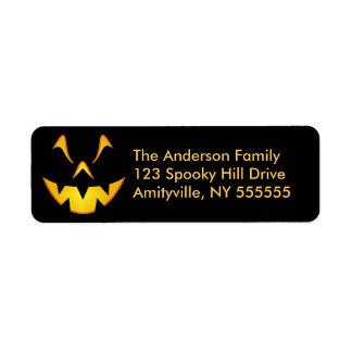 Personalized Halloween Smile Return Address Labels