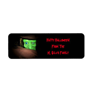 Personalized Halloween Tags Stickers