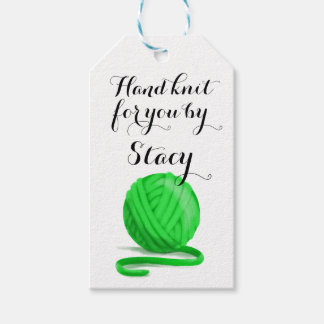 Personalized Hand Knit for You with Care Info Pack Of Gift Tags