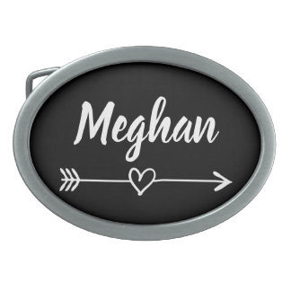 Personalized handlettered belt buckle for women