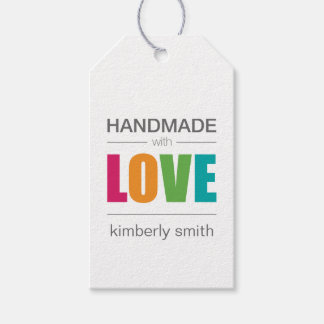 Personalized Handmade with Love Gift Tags