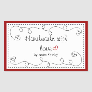 Personalized Handmade With Love Labels