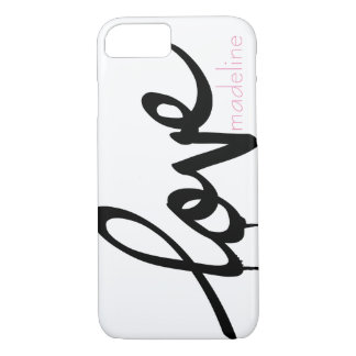 Personalized Handwritten Script Love iPhone 7 Case