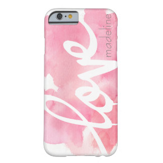 Personalized Handwritten Script Love Watercolor Barely There iPhone 6 Case