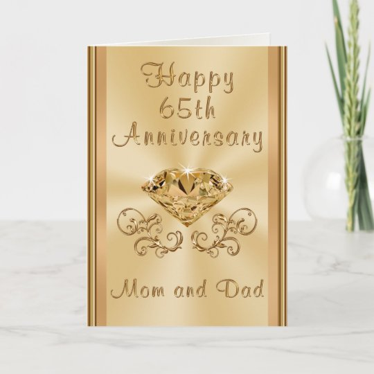 65 Wedding Anniversary Gift: Personalized Happy 65th Wedding Anniversary Cards