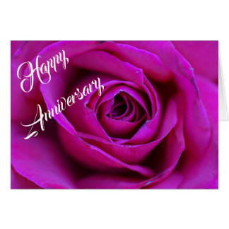 Personalized Happy Anniversary Rose Greeting Card